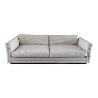 Custom Modern Tuxedo Sofa in Noblis Fabric