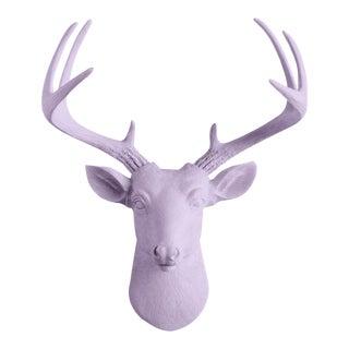 Wall Charmers Mini Deer Lavender Purple Faux Head Mount Bust