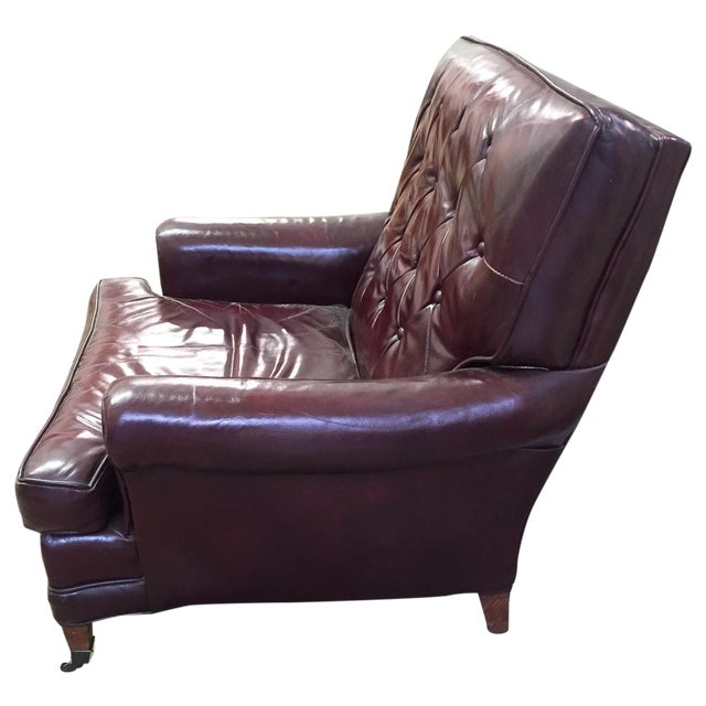 Mid Century Sloane Leather Club Chair - Image 1 of 7