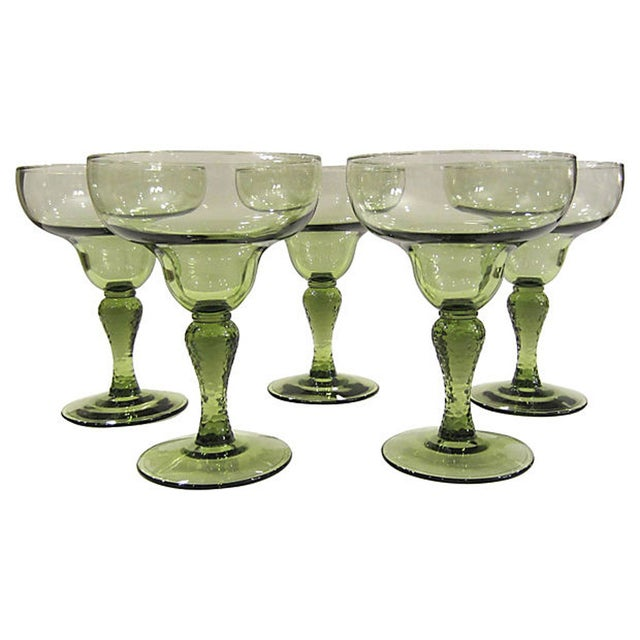Textured Margarita Glasses - Set of 5 - Image 2 of 3