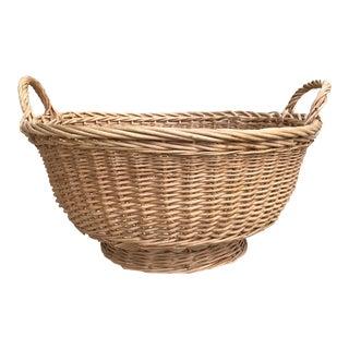 Boho Natural Wood Woven Basket