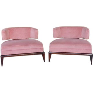 1960's Billy Haines Style Club Chairs - A Pair