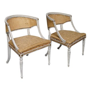 Pair of Swedish Klismos Chairs (#61-09)