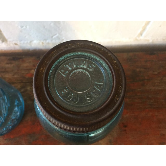 Vintage Blue Ball Mason Jars - A Pair - Image 6 of 11