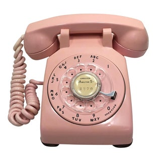 Western Electric 1957 Pink Rotary Dial Telephone