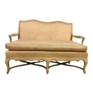 French Paint Decorated Settee or Loveseat in the Swedish Fashion