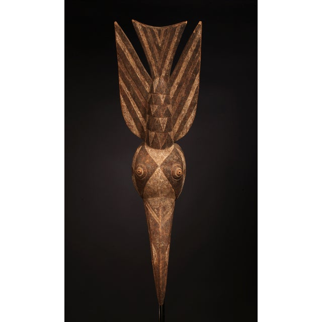 Image of African Tribal Mossi Carved Painted Wood Mask