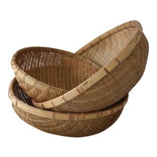 Chinese Winnowing Baskets - Set of 3