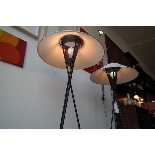 Image of Gerald Thurston Tripod Floor Lamps - Pair