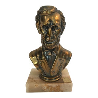 Lincoln Brass Bust with Onyx Base