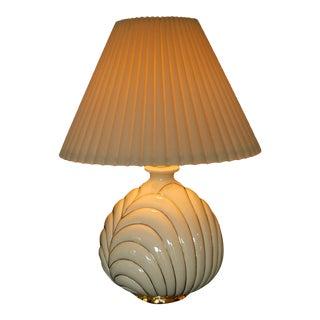 Vintage Porcelain & Gold Lamp