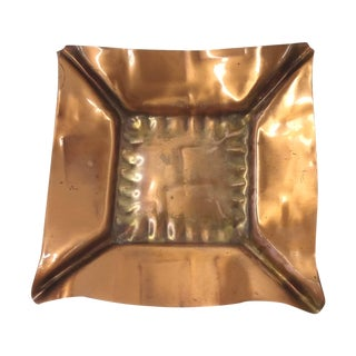 Mid-Century Copper Ashtray/Candle Holder
