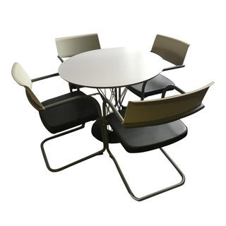 Knoll Geometric Base Dining Table & 4 Spoleto Chairs