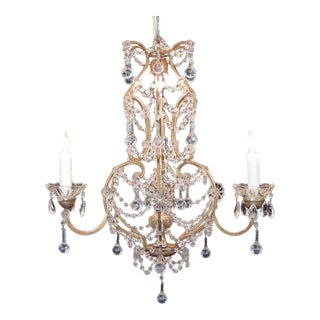 Early 20th C Venetian Crystal Chandelier