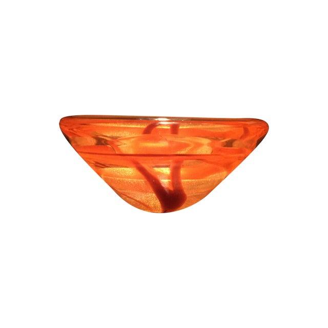 Seguso Viro for Murano Orange Art Glass Dish - Image 1 of 9