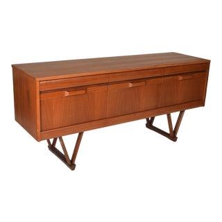 V-Leg Teak Dresser Or Credenza