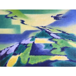 Eleanor Perry 1969 Abstract Landscape Painting