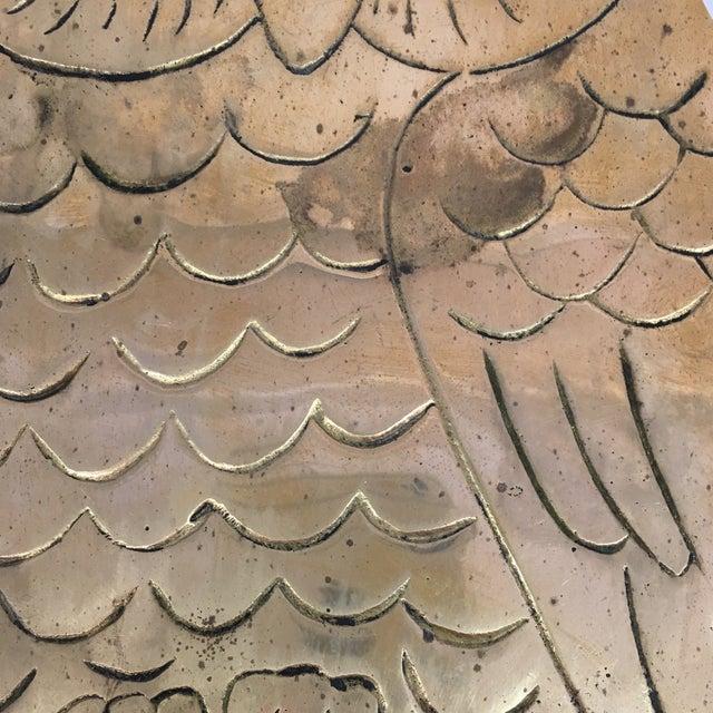 Vintage Brass Owl Trivet - Image 3 of 8