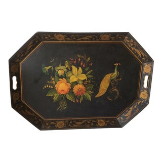 Antique American Painted Decorated Tole Tray