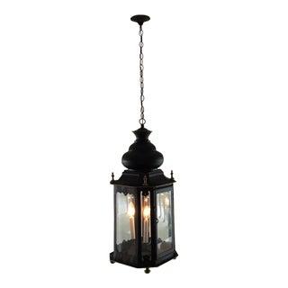 Moroccan-Style Black & Gold Lantern Chandelier