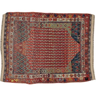 "Antique Persian Afshar Rug - 2'4"" X 2'10"""