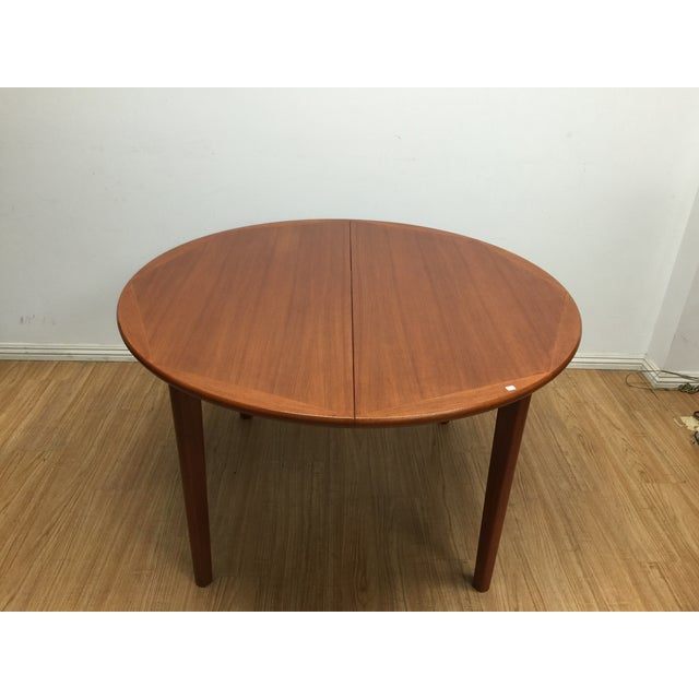 Danish Modern Dinning Table With Leaf - Image 3 of 5