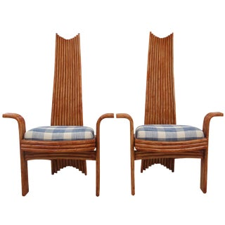 Arthur Edwards Bamboo Chairs - A Pair