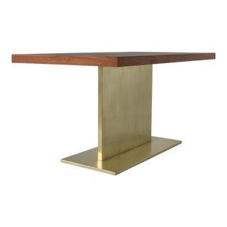 Warren Platner Desk on Polished Bronze Pedestal
