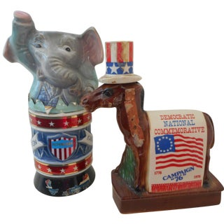 1976 Commemorative Campaign Barware - Pair