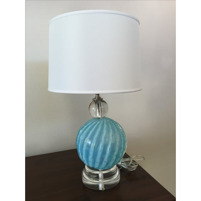 Murano Glass Table Lamps - Image 7 of 10