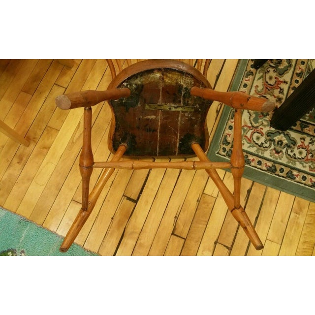 18th Century Ebenezer Tracy Windsor Chair - Image 8 of 8