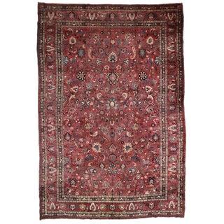 """Antique Persian Mashad Oriental Rug - 12'11""""x19'3"""""""