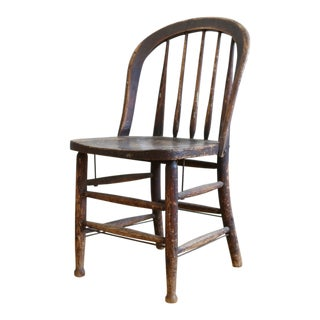 Antique American Primitive Accent Wood Chair