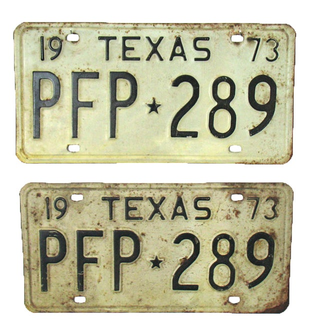 Vintage Texas License Plates 1973 - A Pair - Image 1 of 5