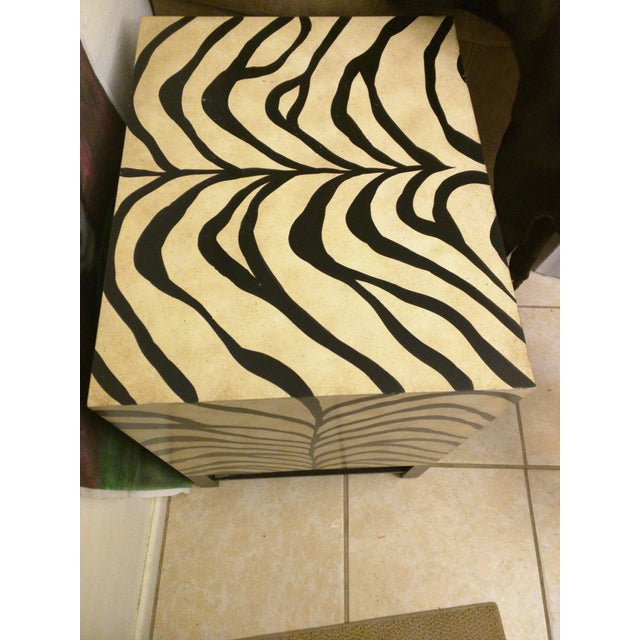 Zebra Print Side Tables - A Pair - Image 5 of 5