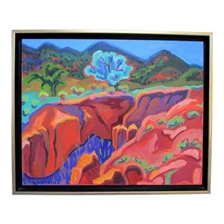 Colorful Mountain Range Landscape Oil Painting