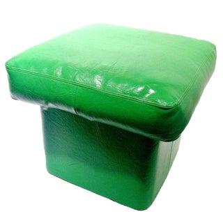 70's Emerald Green Pouf / Ottoman