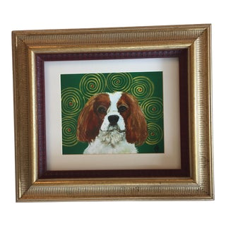 King Charles Spaniel Dog Print by Judy Henn Framed