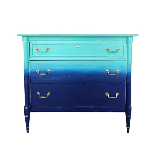 Turquoise & Navy Ombré Dresser - Image 1 of 8
