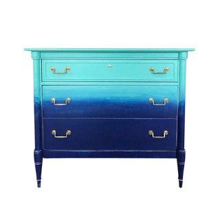 Turquoise & Navy Ombré Dresser