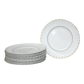 Set of 12 Royal Doulton English Porcelain Adrian Dinner Plates