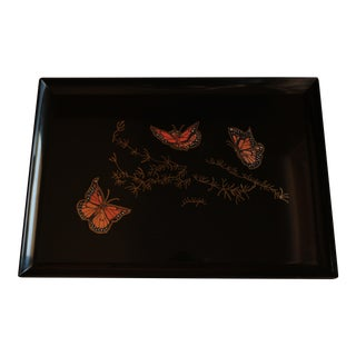 Couroc of Monterey Monarch Butterfly Tray