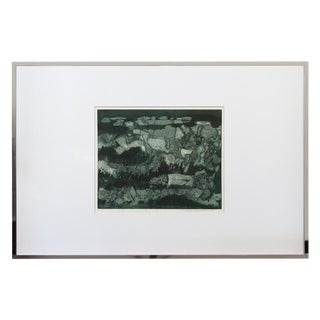Michele Russman Framed Abstract Etching