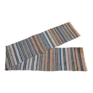 "Swedish Vintage Handwoven Rag Rug 1""7' x 11"""