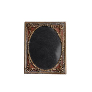 Antique Victorian Reverse Painted Brass Picture Frame