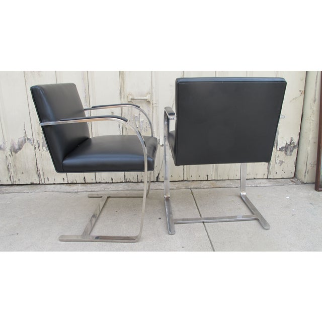 Image of Brno Chairs by Ludwig Mies Van Der Rohe - A Pair