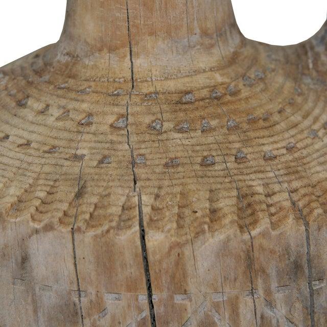 Hand-Carved Antique Wood Ewer - Image 3 of 6
