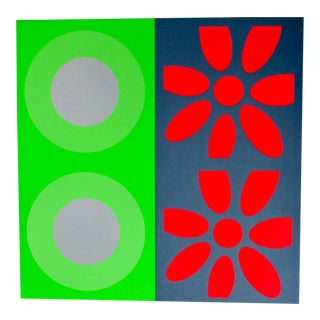 1960s Targets and Daisies Artist's Proof Original Silkscreen by Peter Gee