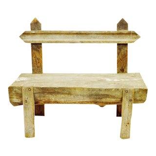 Antique Primitive Log Bench