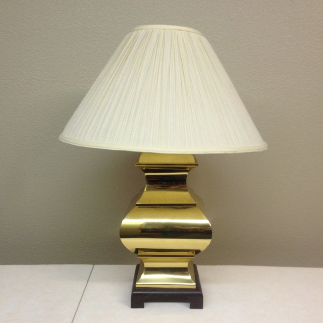 Large Brass Asian Table Lamps - A Pair - Image 4 of 9